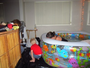 Home water birth is awesome! (I felt like I was going to die at this point! lol)