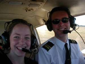 Hubby and I flying when I was 18. We were highly attracted at the time, but didn't end up married for another 3 years!