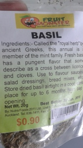 Mmmm.. time to plant more basil! Dried is good, too!